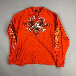 vintage sturgis Harley Davidson graphic flames tee